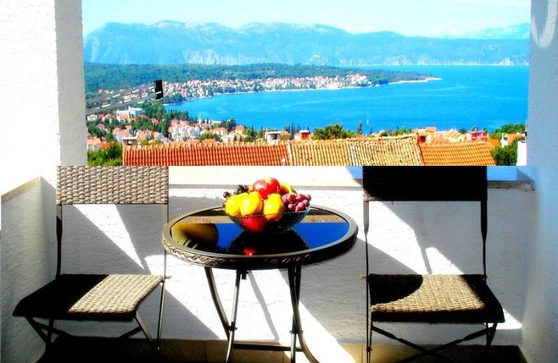 The view of the sea from the teracce - Apartment Gloria w/ great sea view, Malinska, Krk - Malinska - rentals