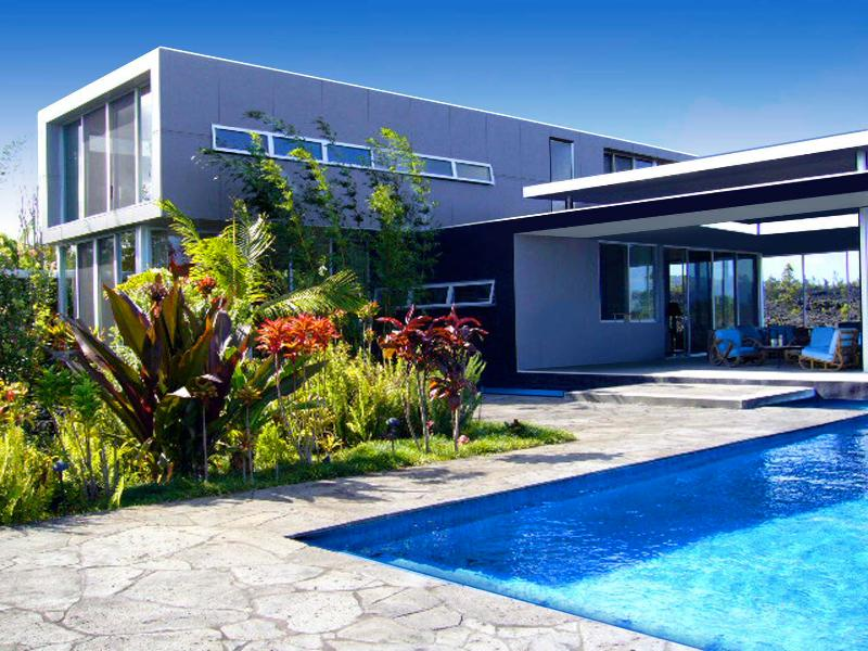 Main House and Pool for your use - Stunning Modern Guest House with Pool & Garden - Pahoa - rentals