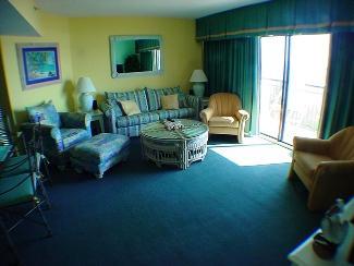 LIVING ROOM - BEAUTIFUL OCEANFRONT 3 BEDROOM BEACHCOVE 201 - North Myrtle Beach - rentals