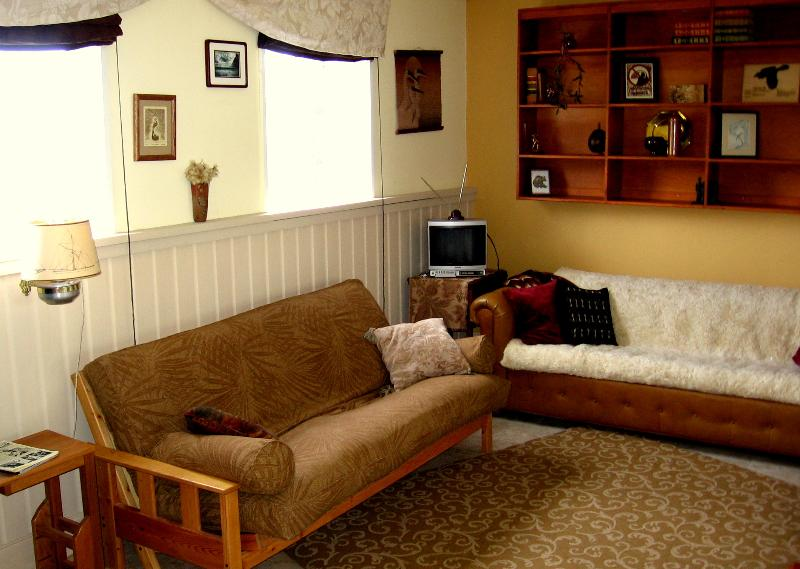 Comfy futon (could sleep two) and couch - Comfy Retreat - can sleep  4 - Central Location! - Gustavus - rentals