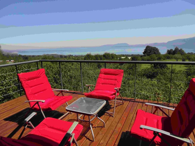 Red Chairs and View of the Lake - Luxury Private Chilean Cabana Spectacular Lake/Mountain View - Pucon - rentals