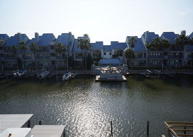Back view of Complex - Nautical Escape! Geourgeous recently updated Waterfront Condo with boat slip! - Corpus Christi - rentals