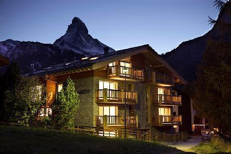 Chalet Amber - 4 Bedroom Deluxe Apartment Near Ski Lift, Shops and Dining - Image 1 - Zermatt - rentals