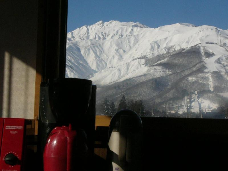 view from the kitchen and livingroom - Hakuba Ski Condo - Hakuba-mura - rentals