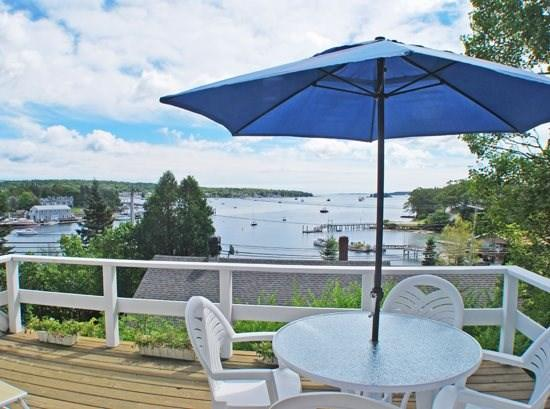 View of the Harbor from the second floor deck - CAPE MCKAY - Town of Boothbay Harbor - Boothbay Harbor - rentals