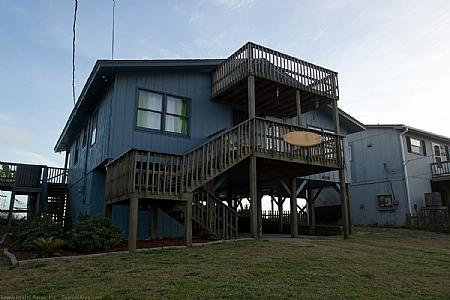 Street Side Exterior - Ball Cottage, 608 N Shore Dr., Surf City - Oceanfront - Surf City - rentals