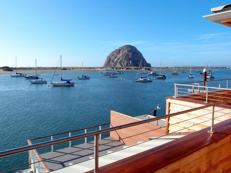 View of Morro Rock from the balcony. - Exclusive Bayfront Condo on Embarcadero. Fab views - Morro Bay - rentals