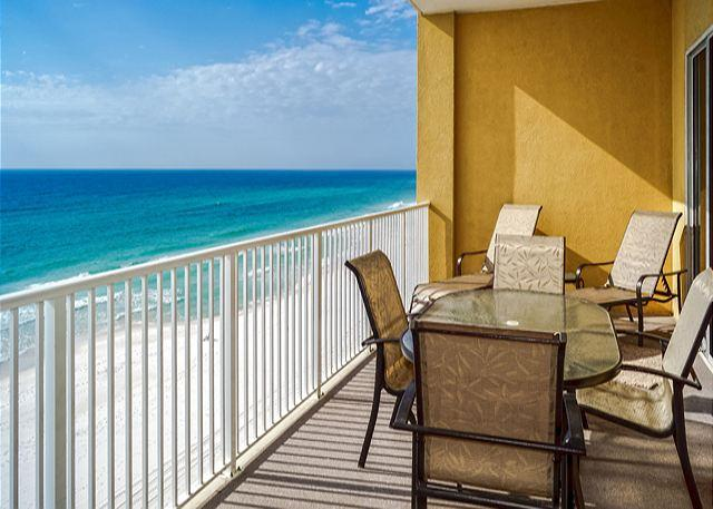 A GREAT SPOT FOR MORNING COFFEE - Huge Beachfront Condo for 10 with Special Discounts! - Panama City Beach - rentals