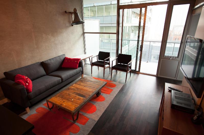 Living Room - Modern Loft in the Heart of Toronto Ent. District - Toronto - rentals