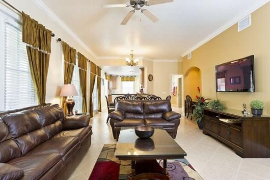 Living Room - Reunion-Kissimmee-3 Bedroom-Condo-R104 - Kissimmee - rentals