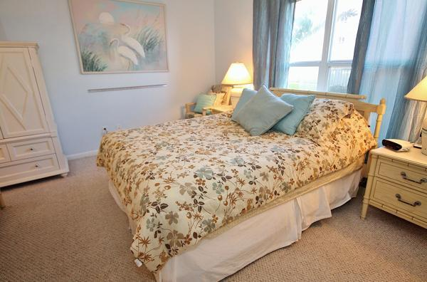 Master Bedroom with Queen size bed - Your Pet Is Welcome at Sea Coast Gardens III 112 - New Smyrna Beach - rentals