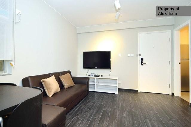 View of the living room with 47