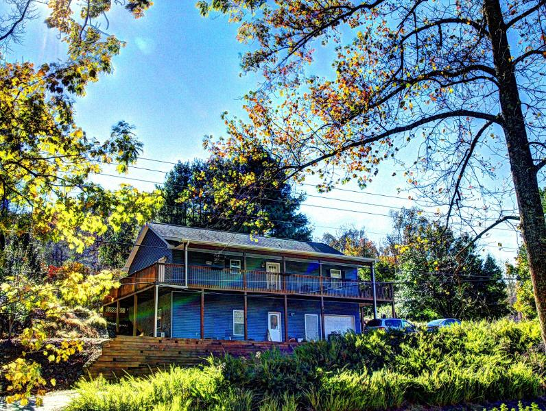 House from across Garren Creek - Mountain Side luxury Home Near Asheville - Fairview - rentals