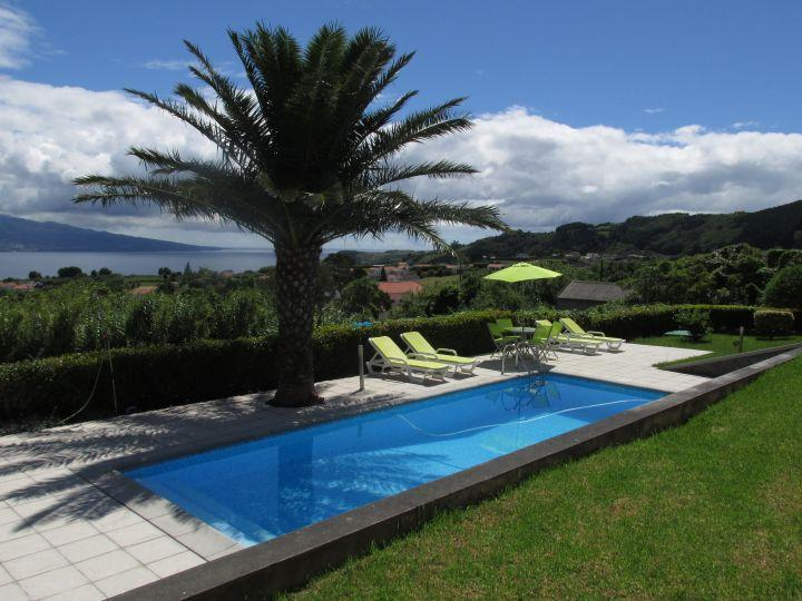 Enjoy a swim in your own private pool, then relax on the terrace with the stunning view of Pico - Casa da Boa Vista - fabulous views and a pool! - Horta - rentals