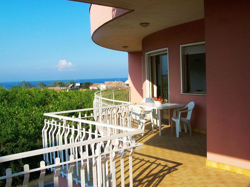 Balcony with sea and Etna view - Seaside Apartment under Mount Etna - 7 people - Acireale - rentals