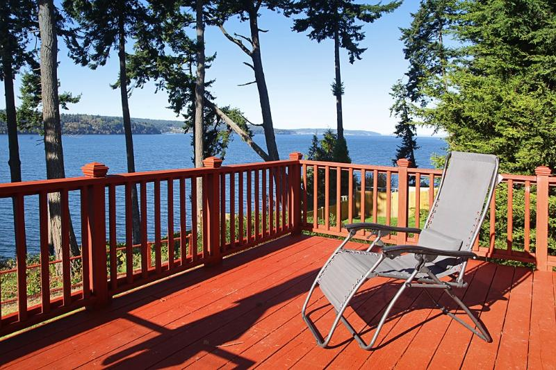 back of the house - Whidbey Island Water Front Beach House - Freeland - rentals