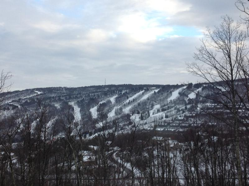 Day view of slopes from deck, LR/DR, MBR and lower level - Brand new luxury home with spectacular views - Tannersville - rentals