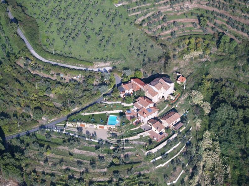 View from the sky of Podere Ager Mentis - Podere Ager Mentis - Villa Arcadia - Pian di Sco - rentals