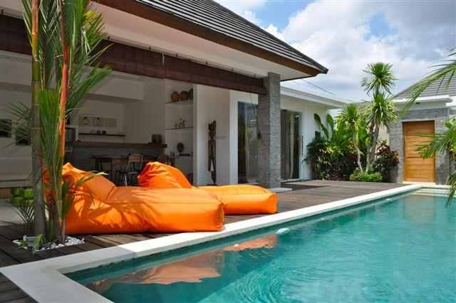 view in the day, pool with sun bad - Modern Deluxe Private Seminyak Villa - Seminyak - rentals