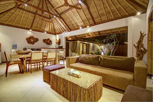 living room night view - Luxurious Traditional Semi Modern Umalas Villa - Seminyak - rentals