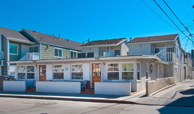 Front - 108 B 28th Street- Upper 2 Bedroom 1 Bath - Newport Beach - rentals