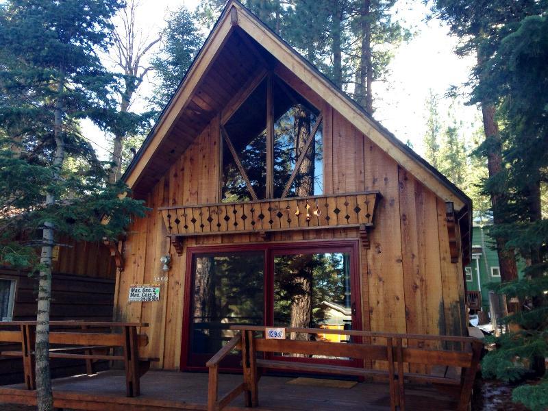 Front with New Windows - Snuggle Bear Cabin Big Bear Lake - Close to Trails - City of Big Bear Lake - rentals