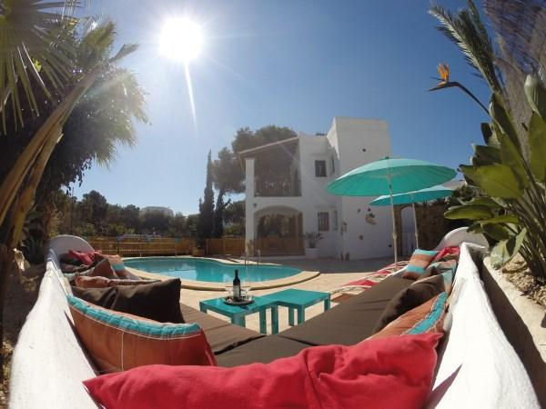 Pool and lounge corner Ca na Delfine - Firstline apartment with pool and beachview - Cala d'Or - rentals