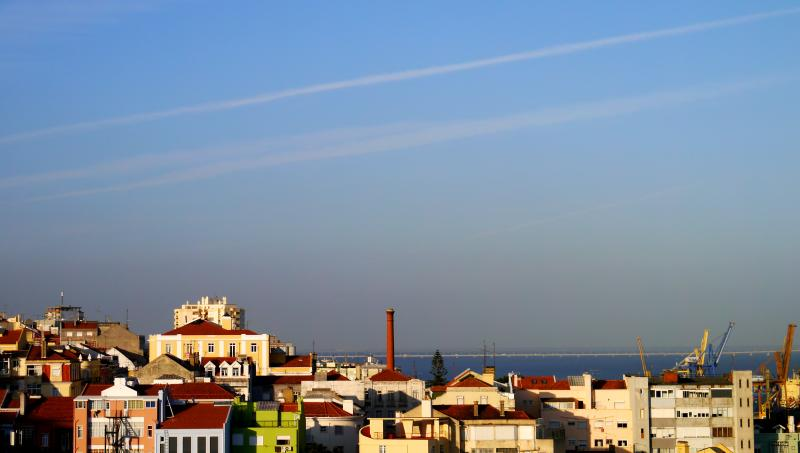 view from front terrace - Flat with Sea View in Central Historical Lisbon, Portugal - Lisbon - rentals