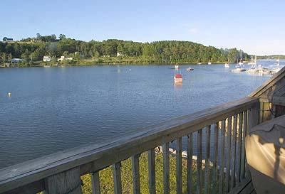 Views of Mahone Bay from the deck - #4 Heisler House Haven, Mahone Bay NS - Mahone Bay - rentals