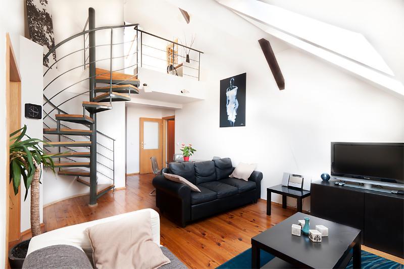 Main living room with sleeper sofa - Italska Apartment - Prague - rentals
