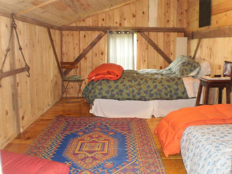 cozy cabin bedroom (1 full bed, 1 single, 1 pullout) - Lost River Barn - Mathias - rentals