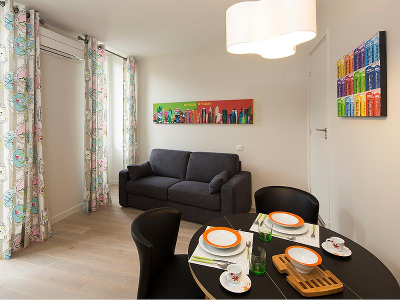 Dining and sofa-bed - Nice Carré d'Or - Pedestrian zone - Studio - Nice - rentals
