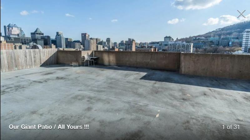 Apt size : 2363 Sqft * Patio size : 1125 Sqft - Downtown McGill Giant Private Patio Group * Family (14 single beds) - Montreal - rentals