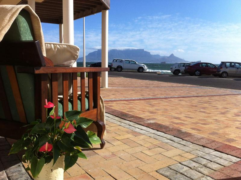 Outside View from Room 4 - Beach Front Self Catering Guest Accommodation in Bloubergstrand - Western Cape - rentals