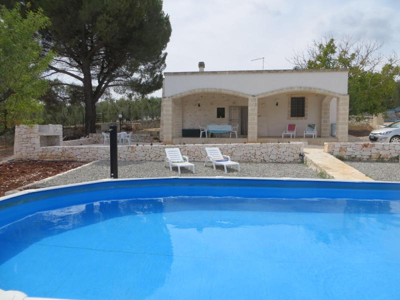 Above ground pool & terraces - Casa Mandorlina Trullo in Puglia - Ostuni - rentals