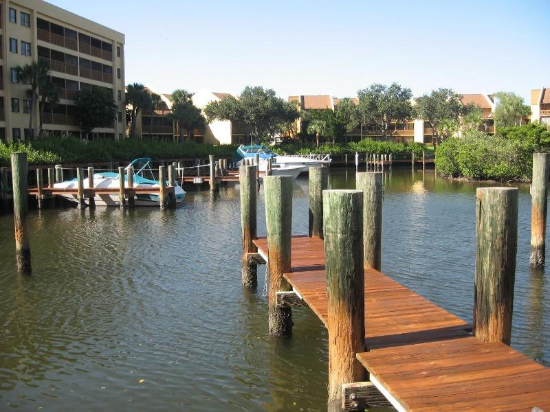 View from Lanai-Fishing and Boating dock; Boat Slip Available for Rent - Midnight Cove: Living on the Water - Sarasota - rentals