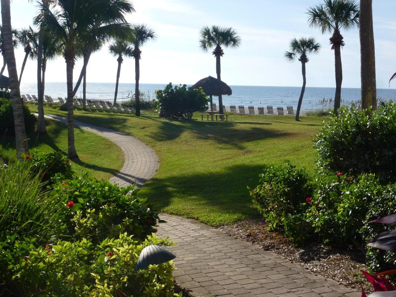 View from the lanai - Just Seconds From The Beach at Pointe Santo, A3 - Sanibel Island - rentals