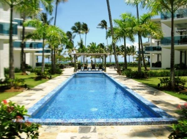 Pools area - In Beachfront condo, 7 sleeps  with all services - Las Terrenas - rentals