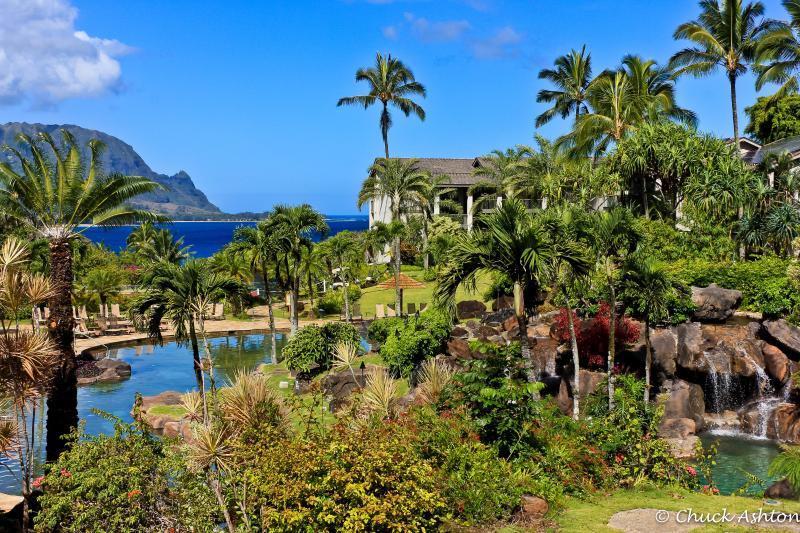 The famed Hanalei Bay Resort pool - Beautiful Kauai Paradise with Award-Winnning Pool - Princeville - rentals