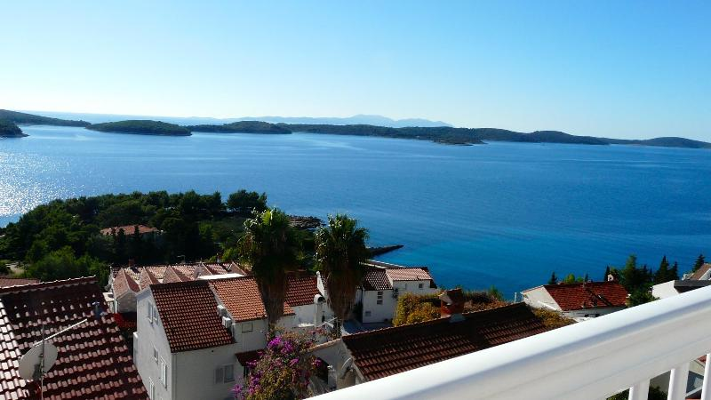 sea view from the west - Sea to Sky Views in this Hvar Town Apartment - Hvar - rentals