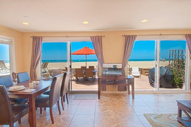 View from the kitchen showing the beach and patio - 5207 A Seashore Drive- Lower 3 Bedrooms 2 Baths - Newport Beach - rentals