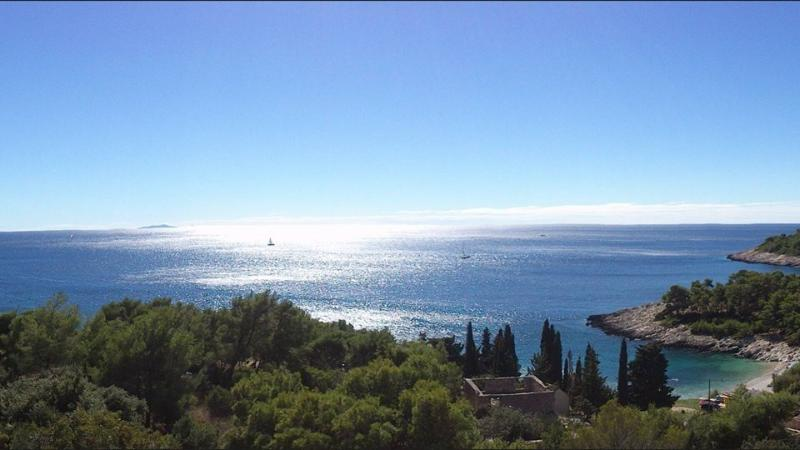 Panoramic view from the private terrace - Studio Apartment with Stunning View - Hvar - rentals