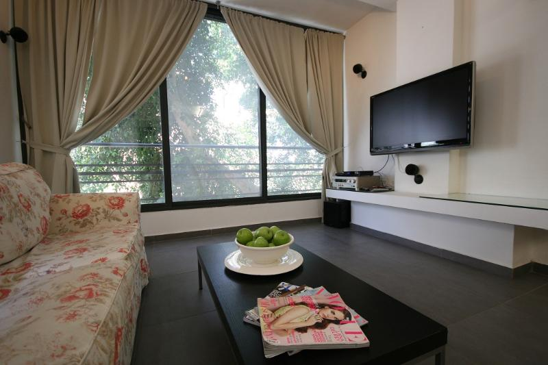 Living Room - Amazing 2bdr-steps from the beach!! - Tel Aviv - rentals