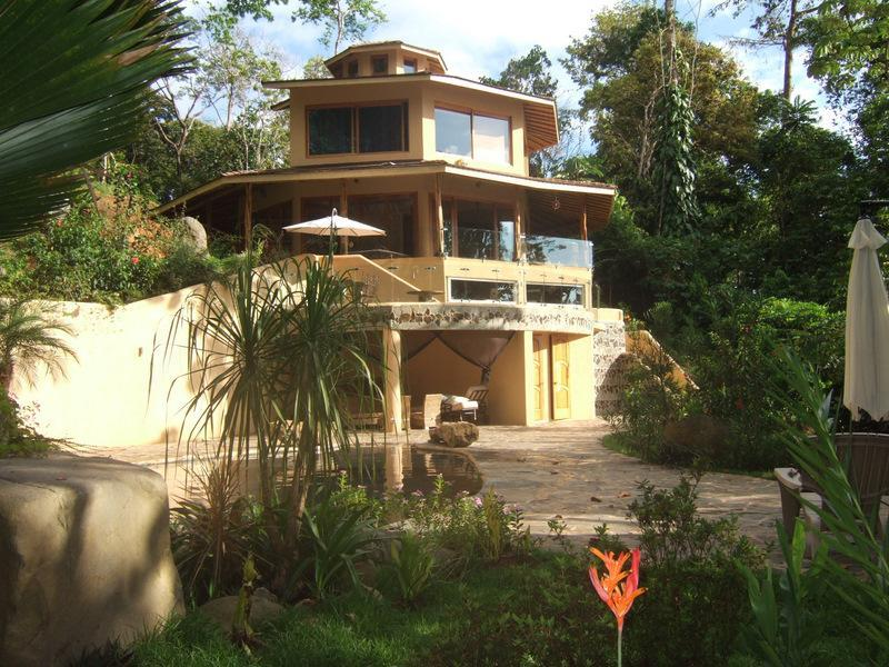 house viewed from pool area - Ocean View Jungle Retreat Primary Forest/Wildlife! - Ballena - rentals