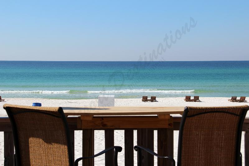 Enjoy the views from the shared deck. - Fabulous One Bedroom with Pool View at Largo Mar! - Panama City Beach - rentals