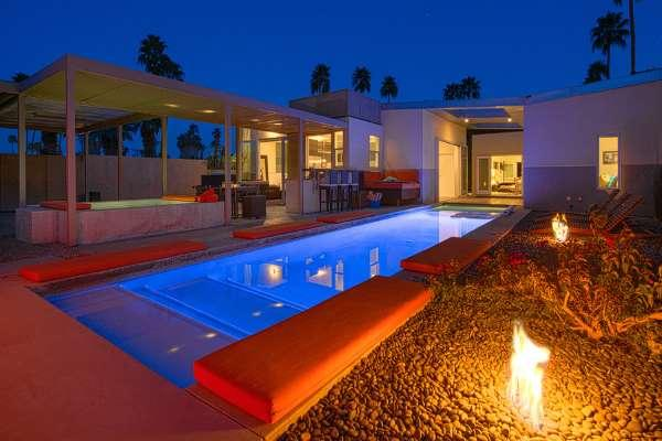 60' Long Pool, Two Pool-Side Fire-pits, Spa, Outdoor Kitchen - 5069 - Palm Springs - rentals