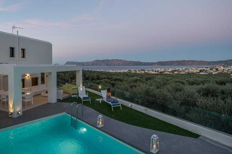 Modern private villa for up 10x, with pool & views - Image 1 - Chania - rentals