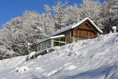 Veranda in winter - Le Pelioou- Renovated Stone Barn w/ Mountain Views - Ariege - rentals