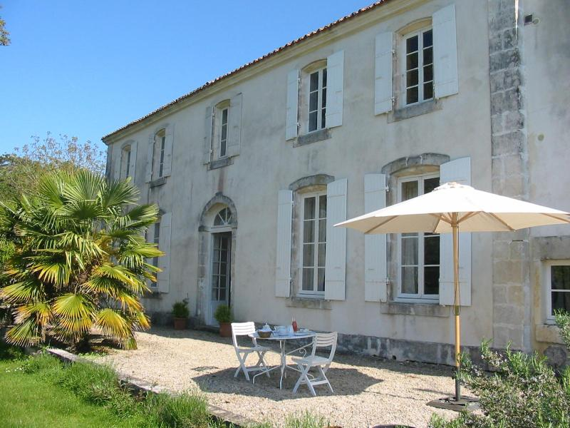 Our House and its terrace - A 18th century B&B in Roman Saintonge. - Venerand - rentals