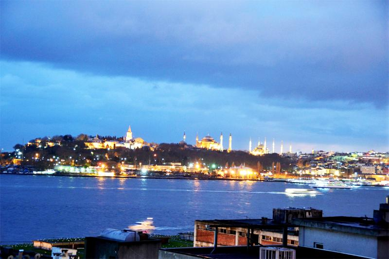 View from the Balcony and Living room - Balcony Bosphorus Sea View Apt Istanbul Center - Istanbul - rentals